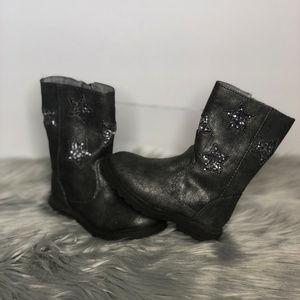 Toddler Girls Boots w/ Glitter Stars - Size 6